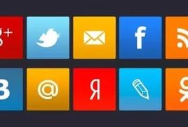 Информация о страничках в социальных сетях